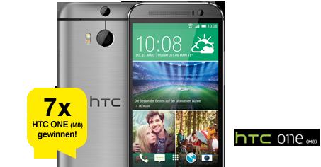 Jeden Monat die Chance auf 1 von 7 HTC ONE (M8) sichern!