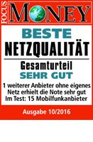 "FOCUS MONEY bescheinigt congstar ""Beste Netzqualität"""